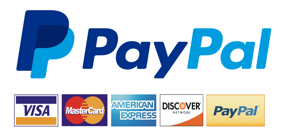 Payment method accepted: PayPal, secure and simple.